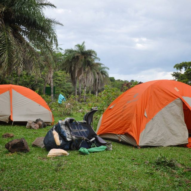 Camping at the feet of an active volcano adds thishellip