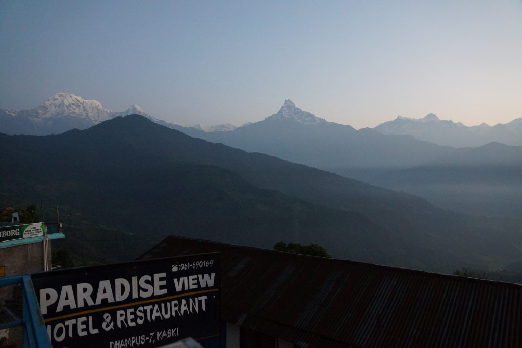 Hotel Paradise View in Dhampus before starting the Mardi Himal Trek in Nepal