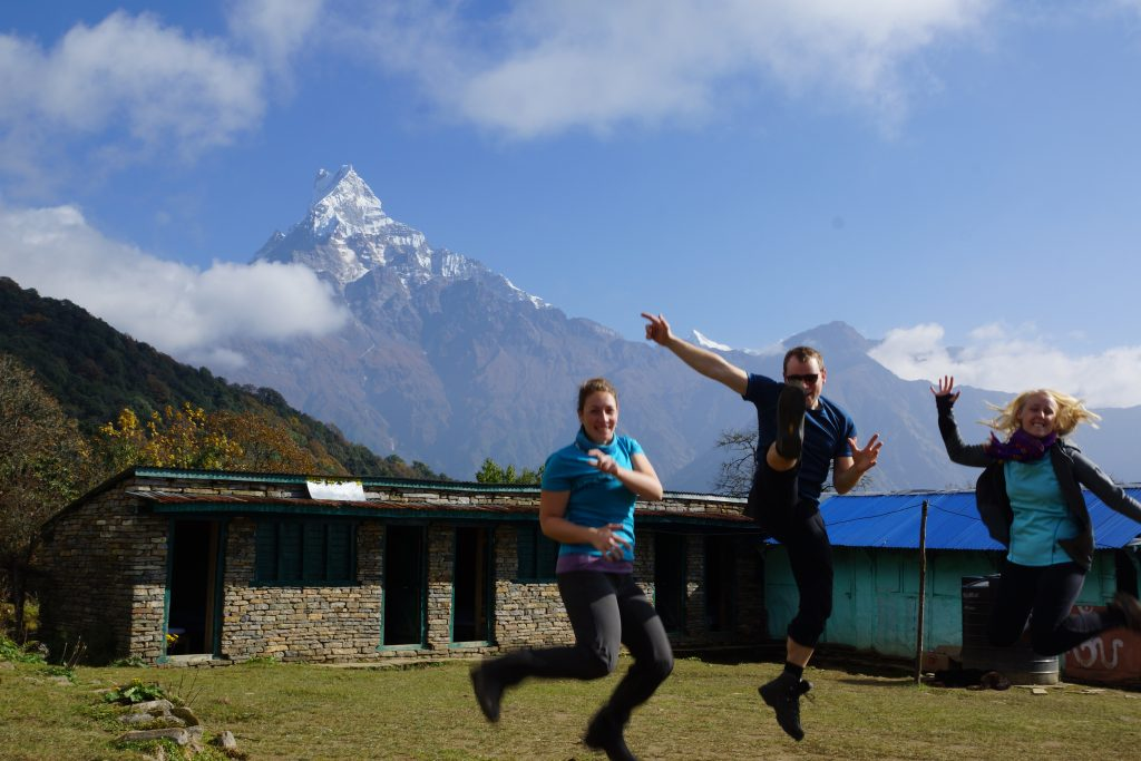 Break at Low Camp on Mardi Himal Trek in Nepal