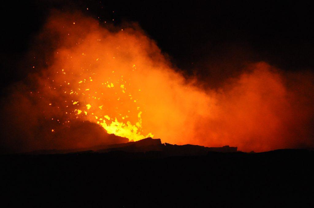 Erta Ale volcano in Ethiopia