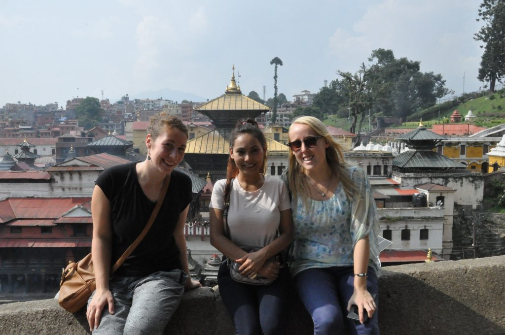 My friend Lorène, Chet and me in Kathmandu.