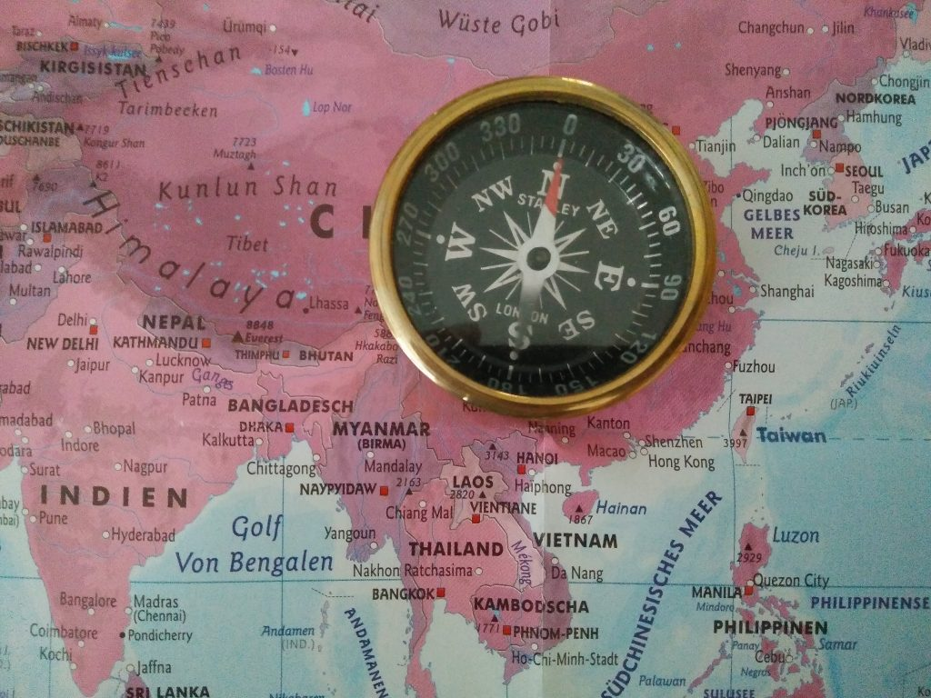 A compass in the world