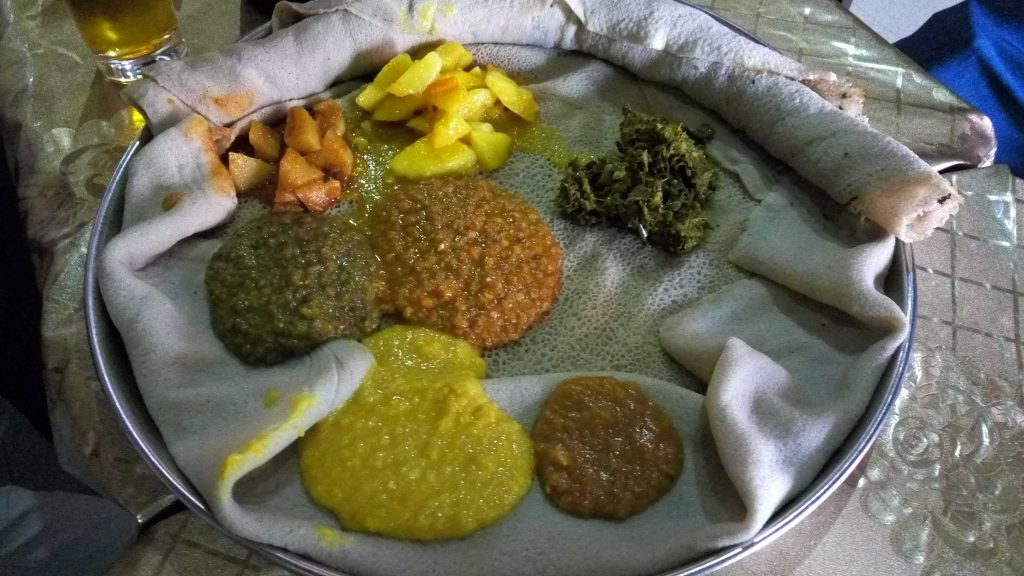 Typical Ethiopian dish