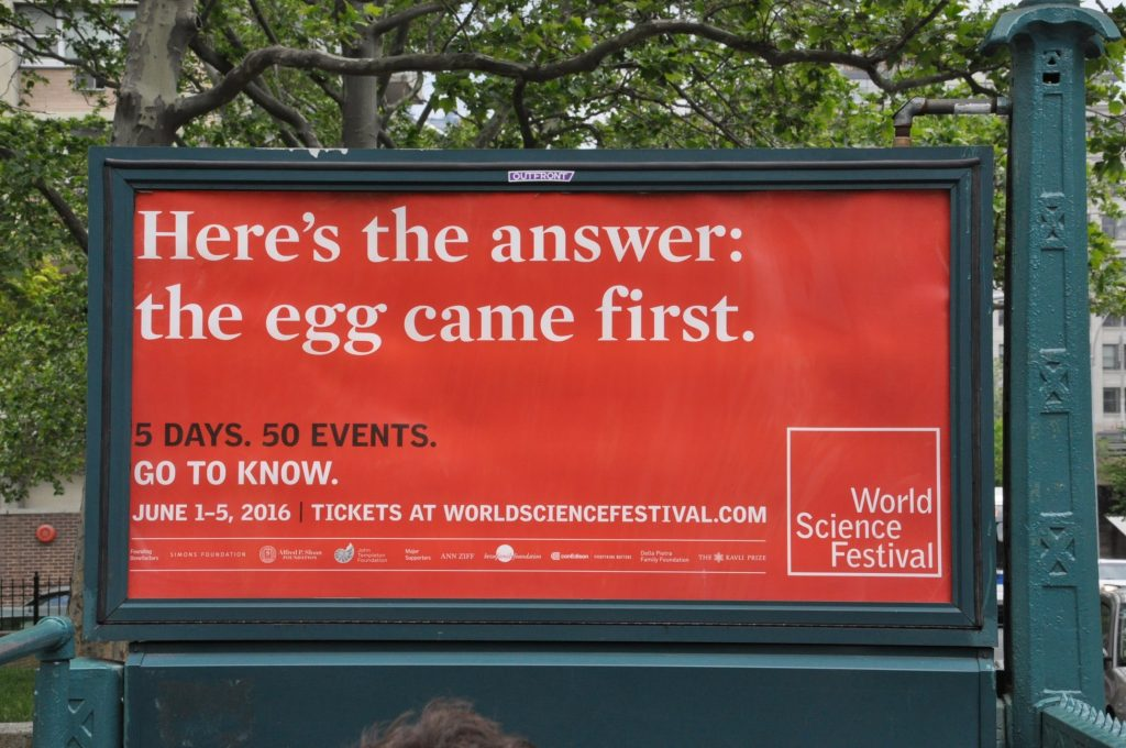 The answer: The egg came first.