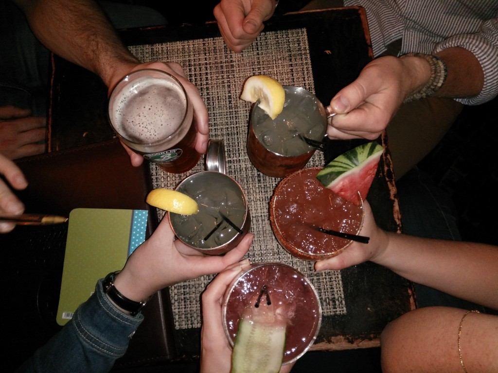 Cocktails in a bar in New York