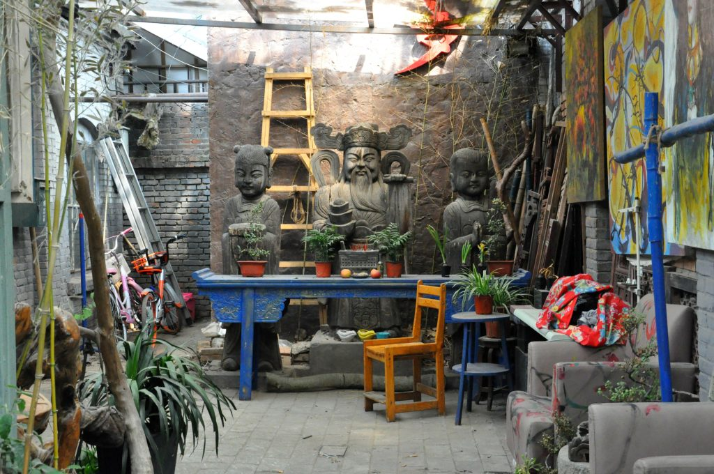 Courtyard in Beijing's art district