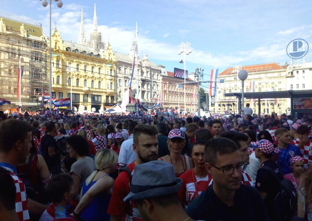 Ban Josip Jelačić square in Zagreb